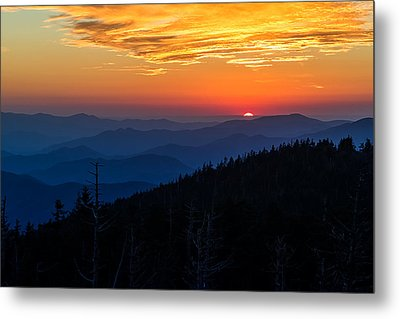 Sun's Last Peak Over The Blue Ridge Metal Print