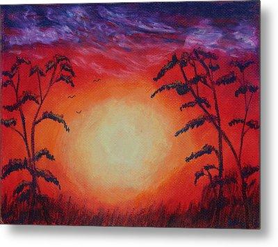 Sunset 1 Metal Print by Jeanne Fischer