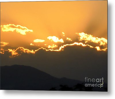 Metal Print featuring the photograph Sunset 3 by Ze  Di