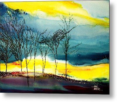 Sunset 3 Metal Print by Anil Nene