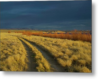 Sunset Above Flaming Gorge, Green Metal Print by Timothy Herpel