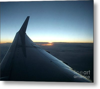Sunset Above The Clouds Metal Print by Gail Matthews