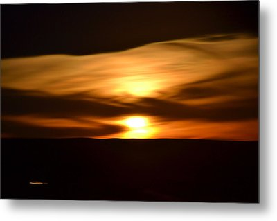 Metal Print featuring the photograph Sunset Abstract I by Nadalyn Larsen