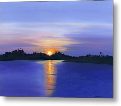 Sunset Across The River Metal Print