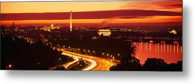 Sunset, Aerial, Washington Dc, District Metal Print