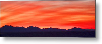 Metal Print featuring the photograph Sunset Algodones Dunes by Hugh Smith