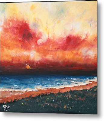 Sunset Metal Print by Amy Williams