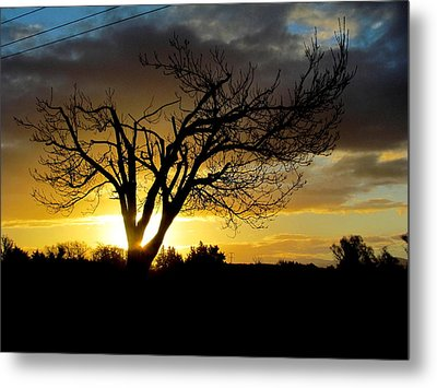 Sunset And Clouds. Metal Print by Joyce Woodhouse