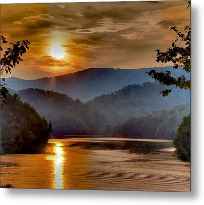 Sunset And Haze Metal Print by Tom Culver