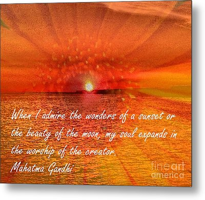 Sunset And Worship Of The Creator By Saribelle Rodriguez Metal Print by Saribelle Rodriguez