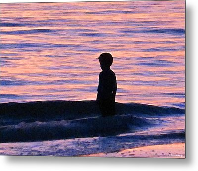 Sunset Art - Contemplation Metal Print by Sharon Cummings