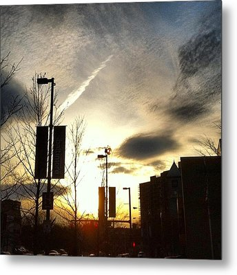 Sunset At Academic Center Metal Print by Toni Martsoukos