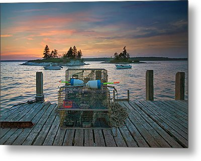 Sunset At Allen's Dock Metal Print