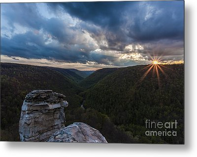 Sunset At Blackwater Falls State Park Metal Print by Amber Kresge