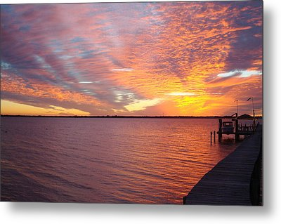 Sunset At Cafe Coconut Cove 2 Metal Print