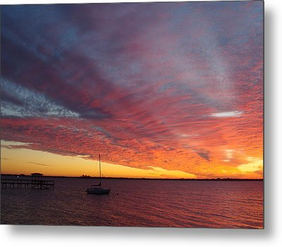 Sunset At Cafe Coconut Cove 6 Metal Print