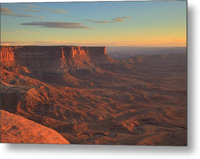 Metal Print featuring the photograph Sunset At Canyonlands by Alan Vance Ley