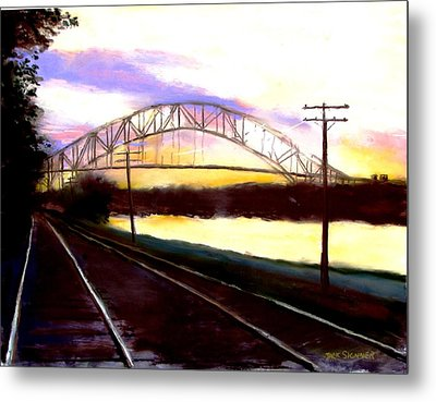 Sunset At Cape Cod Canal Metal Print by Jack Skinner