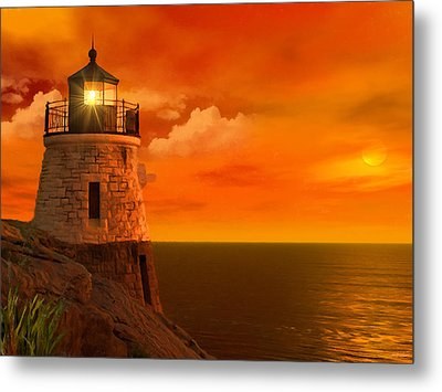 Sunset At Castle Hill Metal Print by Lourry Legarde