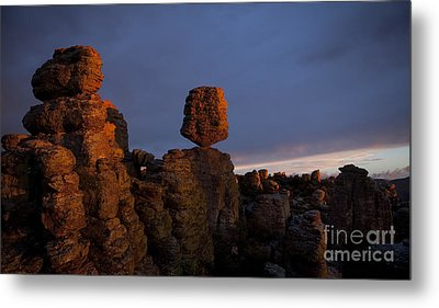 Metal Print featuring the photograph Sunset At Chiricahua by Keith Kapple