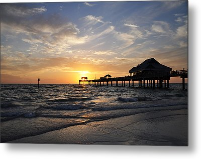 Sunset At Clearwater Metal Print by Bill Cannon