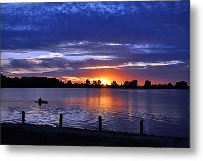 Sunset At Creve Coeur Park Metal Print