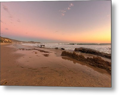 Sunset At Crystal Cove Hdr Metal Print by Angela A Stanton