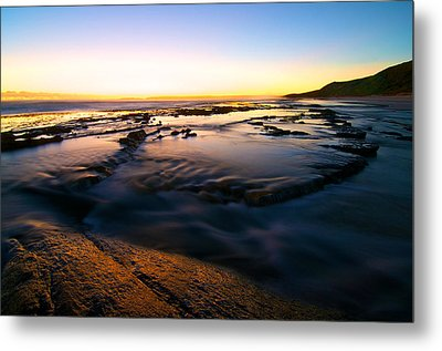 Sunset At Eleven Mile Metal Print by Sally Nevin