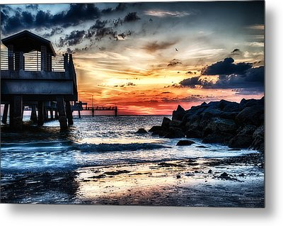 Sunset At Fort Desoto 2 Metal Print by Michael White