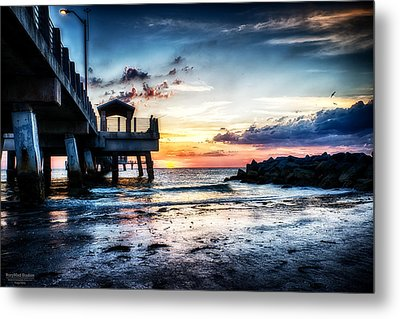 Sunset At Fort Desoto 3 Metal Print by Michael White