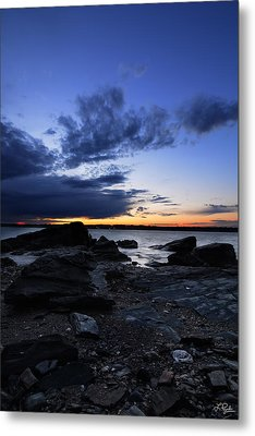 Sunset At Fort Getty Metal Print by Lourry Legarde