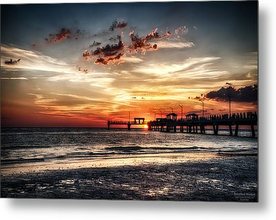 Sunset At Ft Desoto Metal Print by Michael White