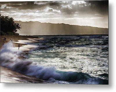 Sunset At Haleiwa Beach Oahu Hawaii V2 Metal Print by Douglas Barnard