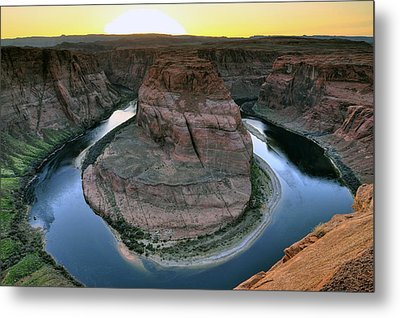 Metal Print featuring the photograph Sunset At Horseshoe Bend by Dan Myers