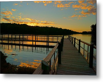 Metal Print featuring the photograph Sunset At Lake Mcintosh by Chris Fraser