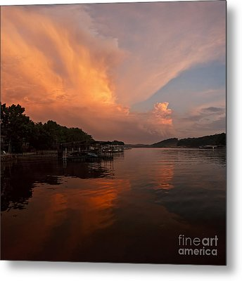 Sunset At Lake Of The Ozarks Metal Print by Dennis Hedberg