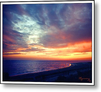 Sunset At Lido Key Metal Print by Mariarosa Rockefeller