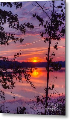 Metal Print featuring the photograph Sunset At Loch Raven by ELDavis Photography