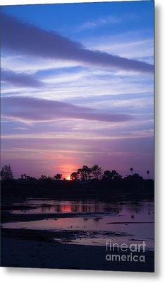 Sunset At Malibu Beach Lagoon Estuary Fine Art Photograph Print Metal Print