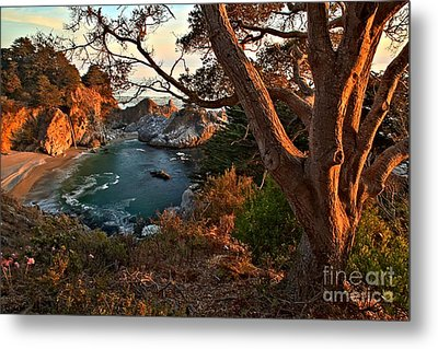 Sunset At Mcway Falls Metal Print by Adam Jewell