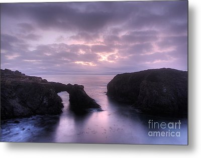 Sunset At Mendocino Metal Print by Bob Christopher
