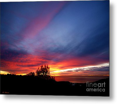 Sunset At Mount Carmel  Haifa 01 Metal Print