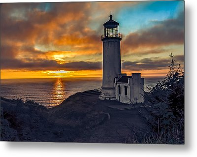 Sunset At North Head Metal Print by Robert Bales