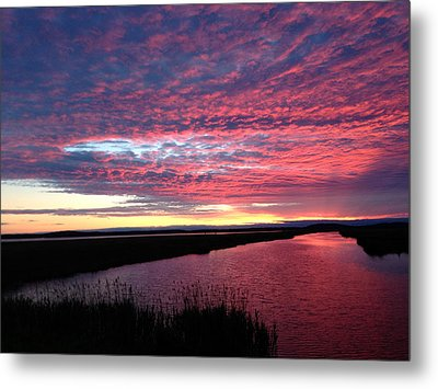 Sunset At North Pool Metal Print