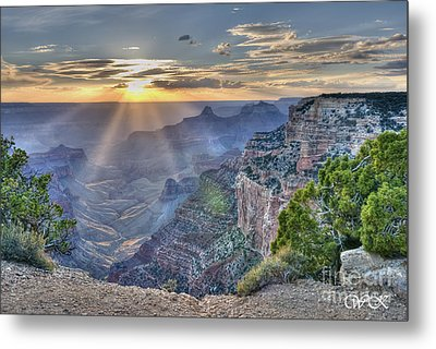 Sunset At Northern Rim Of The Grand Canyon Metal Print by Wanda Krack