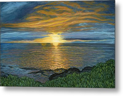 Sunset At Paradise Cove Metal Print by Michael Allen Wolfe