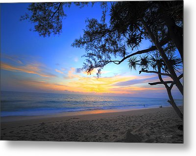 Sunset At Paradise Metal Print