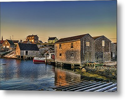 Sunset At Peggy's Cove IIi Metal Print