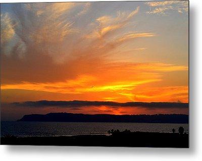 Sunset At Point Loma From Coronado California Metal Print