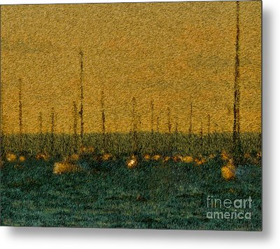 Sunset At Sea Cliff Metal Print by Jeff Breiman